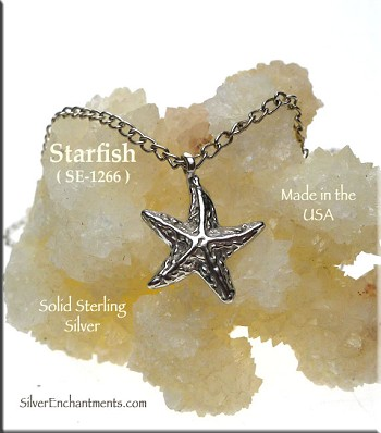 Sterling Silver Starfish Charm, Beader Bailed Sea Star