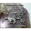 Wild Mustang Horse Charm, Sterling Silver