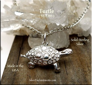 Sterling Silver Turtle Charm-Pendant