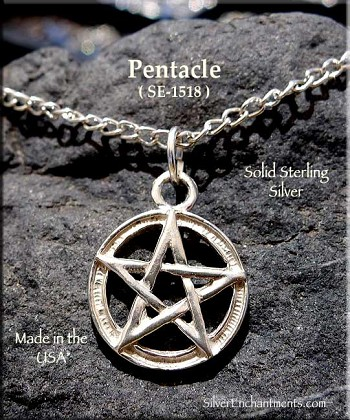 Sterling Silver Pentacle Charm 14mm