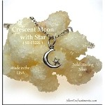 Sterling Silver Crescent Moon Charm, Small
