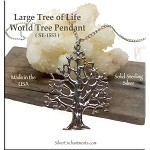 Sterling Silver Tree of Life Pendant Large