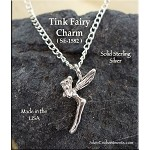 Sterling Silver Fairy Charm, 3D Tinkerbell