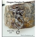 Sterling Silver Dragon with Loop