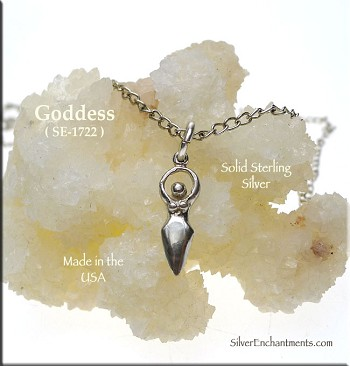 Sterling Silver Goddess Charm, Small