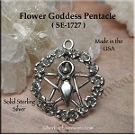 Sterling Silver Flower Goddess Pentacle