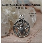 Sterling Silver Goddess Pentacle Charm