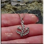 Sterling Silver Thistle Charm, Scottish