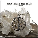 Sterling Silver Tree of Life Pendant, Ringed