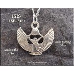 Sterling Silver Isis Charm, Egyptian Goddess Jewelry, Isis Necklace