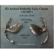 Sterling Silver 3D Arched Butterfly Fairy Charm