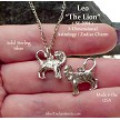 Sterling Silver Leo Charm, Lion Astrology Jewelry