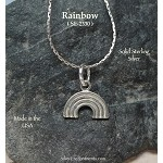 Sterling Silver Rainbow Charm, Rainbow Necklace