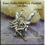 Sterling Silver Sidhe Wild Fairy Pendant