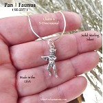 Sterling Silver Pan Charm, Faunus Mythology Jewelry