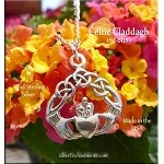 Sterling Silver Celtic Claddagh Pendant, Irish Love Necklace, Celtic Jewelry