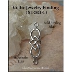 Sterling Silver Celtic Jewelry Connector, Celtic Jewelry Making Supplies (1)