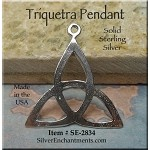 Sterling Silver Celtic Triquetra Pendant, Triquetra Jewelry