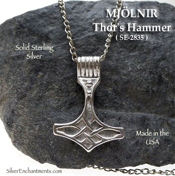 Sterling Silver Thor's Hammer Pendant