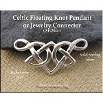 Sterling Silver Celtic Slider Floating Knot Pendant or Y Necklace Connector