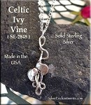 Sterling Silver Celtic Ivy Pendant