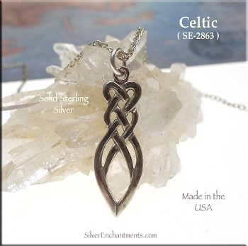 Sterling Silver Celtic Love Knot Charm-Pendant