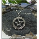 Sterling Silver Celtic Pentacle Pendant