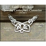 Sterling Silver Large Celtic Knot Jewelry Centerpiece, Celtic Jewelry Findings