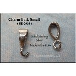 Sterling Silver Charm Bail, Small