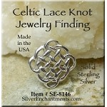 Sterling Silver Celtic Jewelry Finding 14mm