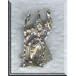 Sterling Silver Large Sterling Silver Bailed Wizard Pendant