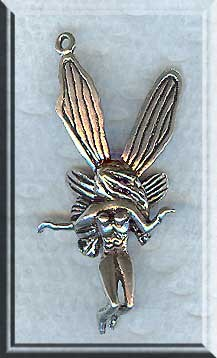 3D Sterling Silver Fairy Pendant