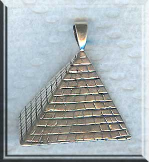 Sterling Silver Bailed Pyramid Pendant, Egyptian Jewelry, Pyramid Necklace