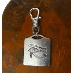 Silver Eye of Ra Zipper Pull Backpack Clip Purse Fob Eye of Horus Swivel Clip On Charm