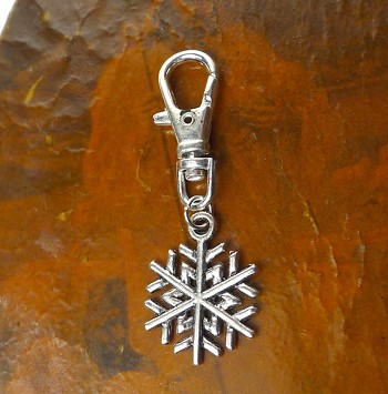 Snowflake Clip On Charm