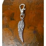 Silver Angel Wing Zipper Pull Backpack Clip Purse Fob Angelwing Swivel Clip On Charm