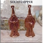Solid COPPER Wizard Pendant, Merlin 3D