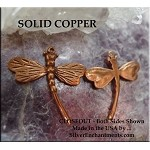 ZSOLDOUT / Solid COPPER Dragonfly Pendant, Curved Tail