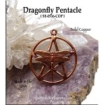 ZSOLDOUT / Solid COPPER Dragonfly Pentacle Pendant