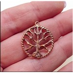 Solid COPPER Tree of Life Charm-Pendant