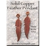 SOLDOUT - COPPER Double-Sided Feather Charm-Pendant
