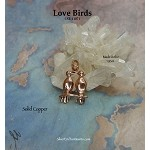 Solid COPPER Love Birds Pendant, Lovebirds - CLEARANCE