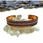 Copper Bracelet, Twisted Rope and Link-Braid Pattern