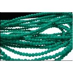 3mm Round Czech Glass Beads Druk Neon EMERALD