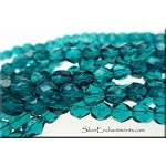 6mm  Fire Polished VIRIDIAN Czech Glass Beads