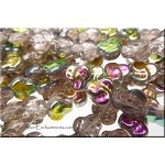 9mm Czech Glass Celtic Trefoil Pansy Beads LIGHT ROSALINE Vitrail