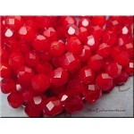 ZSOLDOUT / Czech Glass Beads, Fire Polished RIVOLI RED 6mm