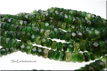 Czech Glass Beads, Rondelle Spacer Beads, Moss Agate Hurricane (50)