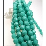 6mm Fire Polished TURQUOISE Czech Glass Beads