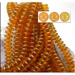 6mm Sandalwood Halo CzechMates 2-Hole Lentil Czech Glass Bead
